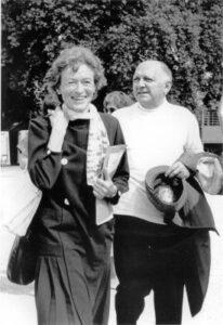 Met Joseph Wresinski in Geneve- 1985